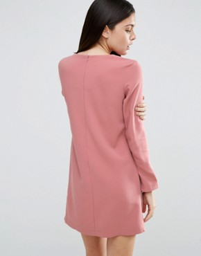 photo Asymmetric Clean Shift Dress by ASOS, color Rose Pink - Image 2