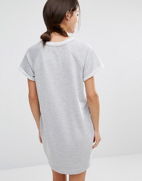 photo Sweat Jumper Dress by Stitch & Pieces, color Grey - Image 2