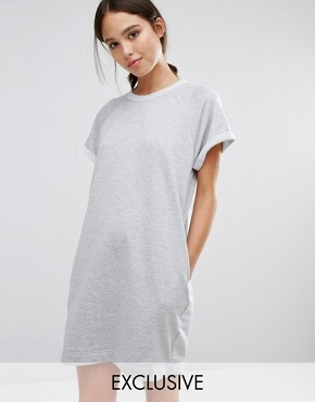 photo Sweat Jumper Dress by Stitch & Pieces, color Grey - Image 1