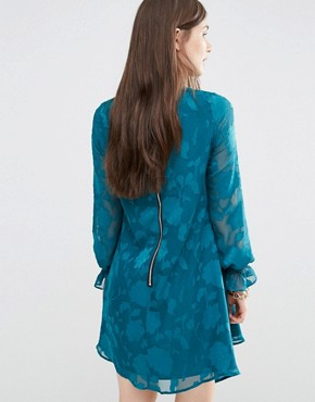 photo 70's Cerys Tunic Dress by Darling, color Green - Image 2