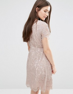 photo Ambar Lace Dress by Darling, color Fawn - Image 2