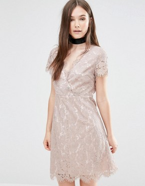 photo Ambar Lace Dress by Darling, color Fawn - Image 1