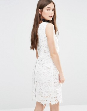 photo Ailsa Embellished Bodycon Dress by Darling, color Cream - Image 2