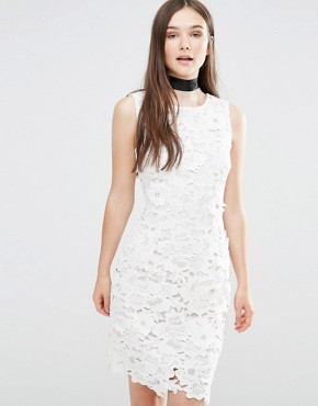 photo Ailsa Embellished Bodycon Dress by Darling, color Cream - Image 1