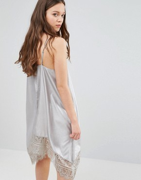 photo Cami Dress with Lace Hem by Vero Moda, color Silver - Image 2