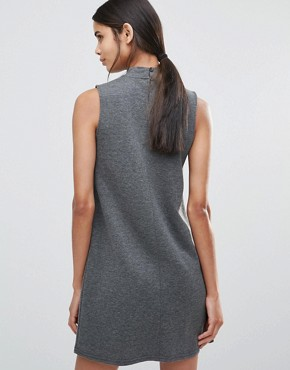 photo High Neck Swing Dress by Vero Moda Tall, color Dark Grey - Image 2