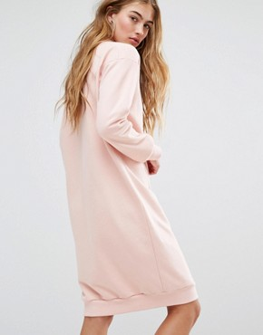 photo Pastel Camo Sweat Dress In Pale Pink by Adidas Originals, color Vapour Pink - Image 2
