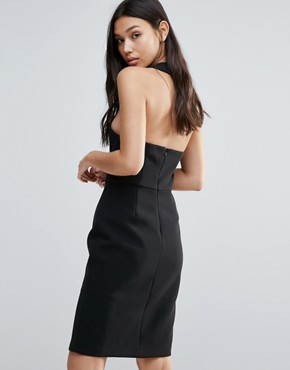 photo Brighter Than The Sun Slit Dress by Talulah, color Black - Image 2