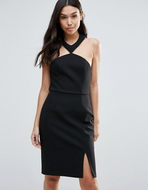 photo Brighter Than The Sun Slit Dress by Talulah, color Black - Image 1