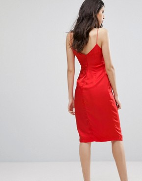 photo Cara Wrap Dress by Talulah, color Red - Image 2