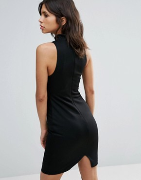 photo Relapse High Neck Bodycon Dress by Talulah, color Black - Image 2