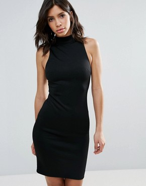 photo Relapse High Neck Bodycon Dress by Talulah, color Black - Image 1