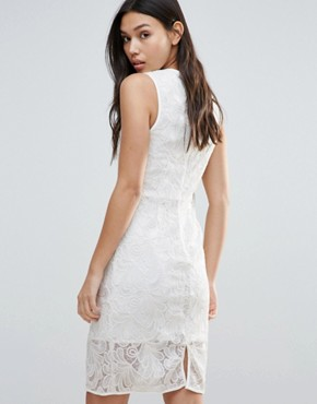 photo Romantic Desire Bow Waist Dress by Talulah, color Off White - Image 2
