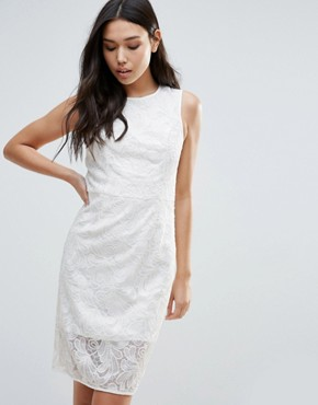 photo Romantic Desire Bow Waist Dress by Talulah, color Off White - Image 1