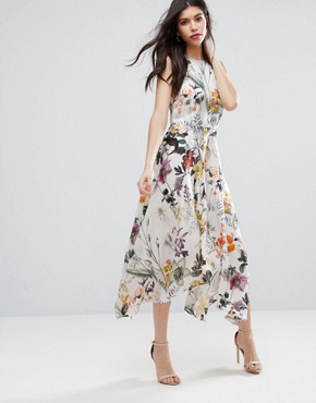 photo Into You Floral Flare Midi Dress by Talulah, color  - Image 1