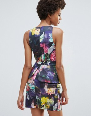photo Hues Of Rose Print Bodycon Dress by Talulah, color  - Image 2