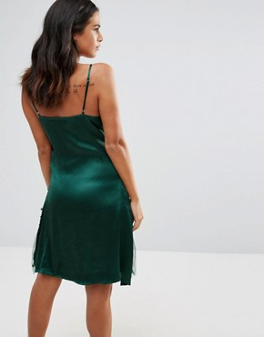 photo Cami Embellished Dress by A Star Is Born, color Emerald Green - Image 2