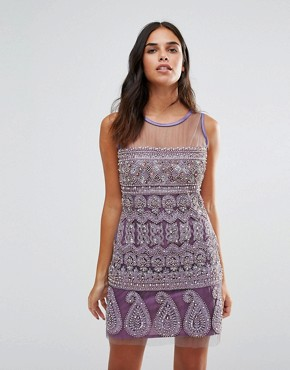 photo Embellished Shift Dress by A Star Is Born, color Lilac - Image 1
