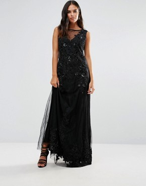 photo Embellished Maxi Dress by A Star Is Born, color Black - Image 1