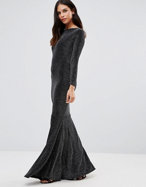 photo Sophia Backless Maxi Dress by Honor Gold, color Black/Silver - Image 2