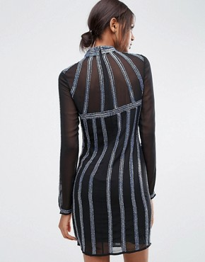 photo Linear Embellished Mini Sequin Dress by ASOS TALL, color  - Image 2