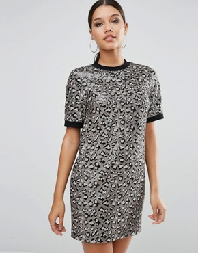 photo Animal Embellished Shift Mini Dress by ASOS, color  - Image 1