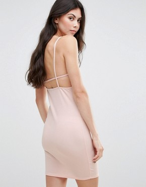 photo Strappy Cami Dress by Daisy Street, color Nude - Image 2