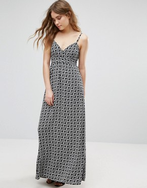 photo Cami Maxi In Multi Geo Print by Traffic People, color Black/White - Image 1