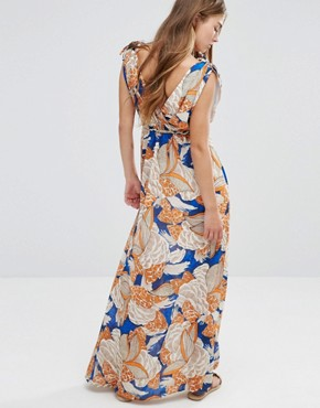 photo Maxi Dress In 70'S Print by Traffic People - Image 2