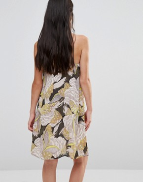photo Cami Dress In 70sPrint by Traffic People, color Green - Image 2