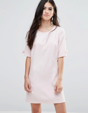 photo Shift Dress With Bow Sleeve by Traffic People, color Pink - Image 1