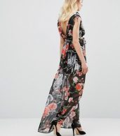 photo Maxi Dress In Woodland Print by Traffic People, color Black - Image 2