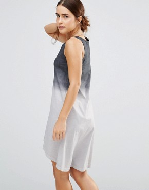 photo Waterfall High-Lo Dress by Uncivilised, color Charcoal Ombre - Image 2