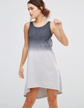 photo Waterfall High-Lo Dress by Uncivilised, color Charcoal Ombre - Image 1