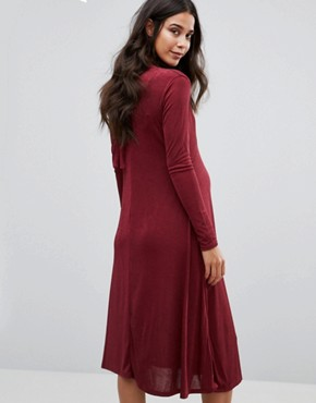 photo Pussybow Midi Dress by Bluebelle Maternity, color Berry - Image 2