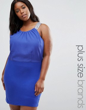 photo Ruby Dress with Strap Detail by Junarose Plus, color Blue - Image 1