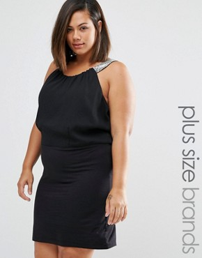 photo Ruby Dress with Strap Detail by Junarose Plus, color Black - Image 1