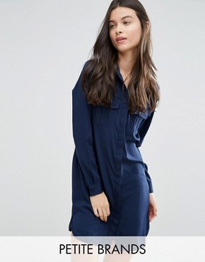 photo Classic Shirt Dress by Vero Moda Petite, color Black Iris - Image 1