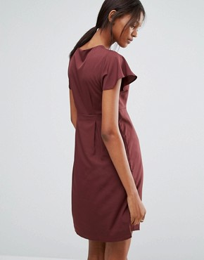 photo Emma Dress with Ruffle Sleeves by Vero Moda Tall, color Decadent Chocolate - Image 2