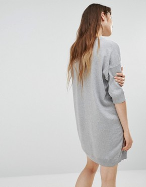 photo Love Intarsia Jumper Dress by Love Moschino, color Grey - Image 2