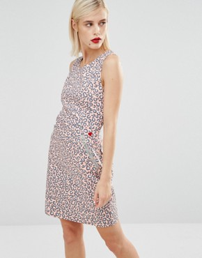photo Pink Leopard Print Dress by Love Moschino, color Pink - Image 1