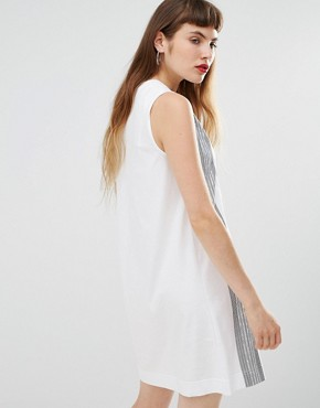 photo Column Print Jersey Dress by Love Moschino, color White - Image 2