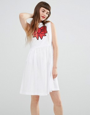 photo Bow Dress by Love Moschino, color White - Image 1