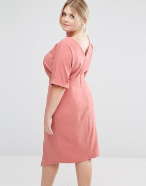 photo Wiggle Dress with Split Front by ASOS CURVE, color Rose - Image 2