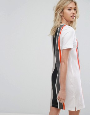 photo Striped T-Shirt Dress by Nike, color Grey - Image 2