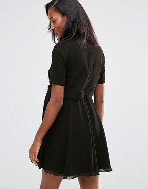 photo Embellished Floral Cropped Top Dress by ASOS Maternity, color Black - Image 2