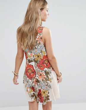 photo Printed Tunic Dress by Free People, color Ivory - Image 2