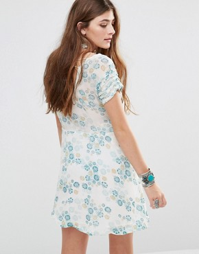 photo Yours Truly Printed Dress by Free People, color Ivory - Image 2