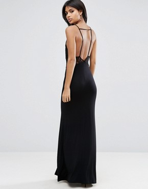 photo Lingerie Lace Top Maxi Dress by ASOS, color Black - Image 2