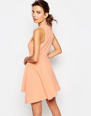 photo Fools Gold Mini Dress by C/meo Collective, color Blush - Image 2